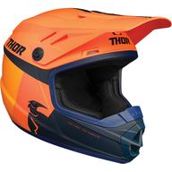 Dětská přilba Thor Sector Racer - Oranžová/Žlutá/Černá/Tmavě modrá