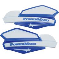 Chrániče rukou PowerMadd Star (Bílá/Modrá)