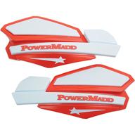 Chrániče rukou PowerMadd Star (Bílá/Červená)