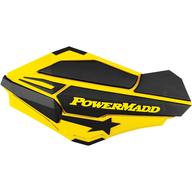 Chrániče rukou PowerMadd Sentinel (Černá/Žlutá)