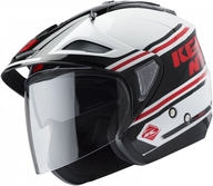 Přilba Kenny Evasion 19 White/Red/Black