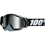 Motokrosové brýle 100% Racecraft - Černá/Bílá/Šedá - zrcadlové