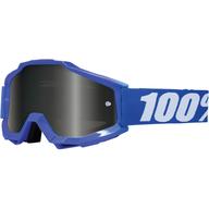 Motokrosové brýle 100% Accuri - Tmavě modrá/Bílá - zrcadlové
