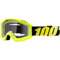 Dětské motokrosové brýle 100% Strata - Žlutá neon/Černá - čiré