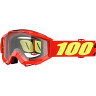 Dětské motokrosové brýle 100% Accuri - Červená/Žlutá/Černé - čiré