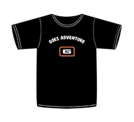 Tričko s krátkým rukávem Goes Adventure - Black