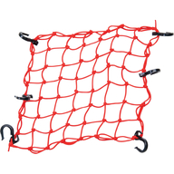 Síťka na připevnění nákladu na nosič čtyřkolky (červená)