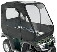 Konstrukce, včetně povlaku na zastřešení ATV v černé barvě