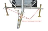 Boční výsuvné patky + středová podpěra  k vozíku (ARC-A03)