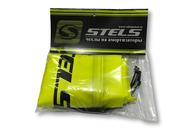 Sada 4 ks ochranných povlaků na tlumiče pérování ve žluté barvě. Včetně stahovacích pásek