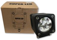 Super LED kovový světlomet s chladičem 30W, 9-32V